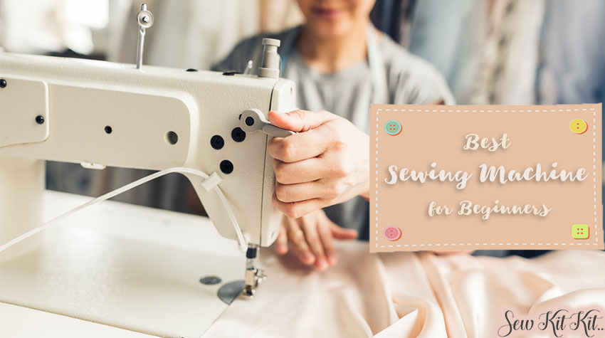 A sewing machine is in action