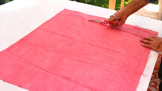 Cutting out patterns