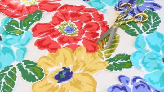large cotton floral fabric