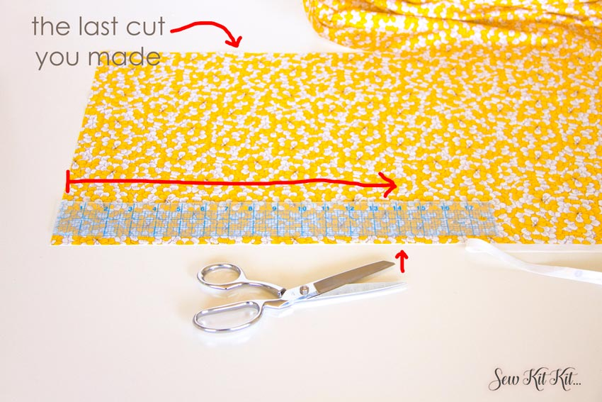 How to Cut Large Pieces of Fabric Straight 88