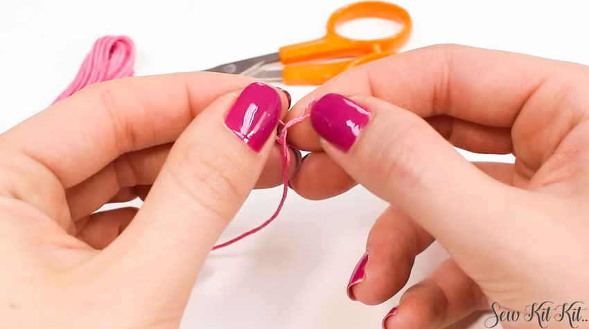 How to Separate an Embroidery Floss 4