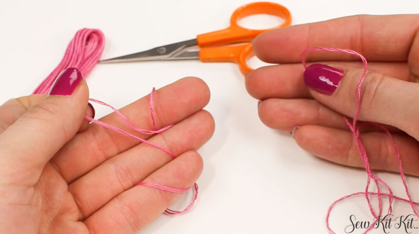 How to Separate an Embroidery Floss 6