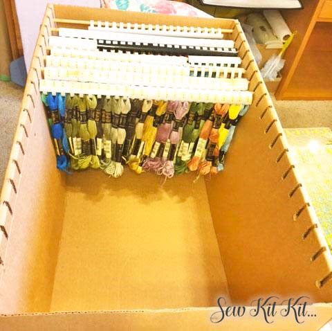 How to store embroidery floss 7