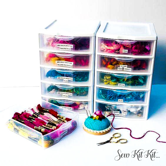How to store embroidery floss 13